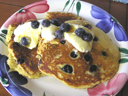 Blueberry Corn Cakes | Delectable Tidbits