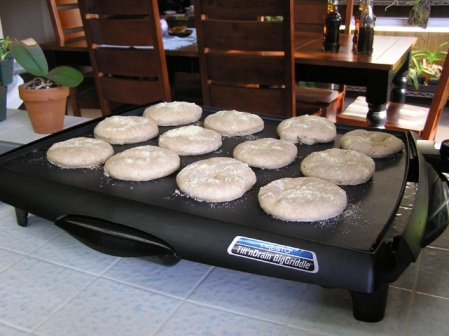 English Muffins Grilling