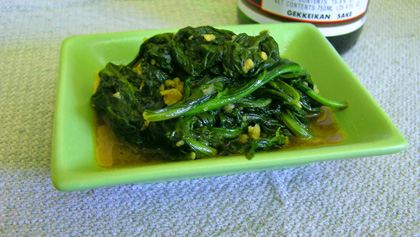 Garlic Spinach