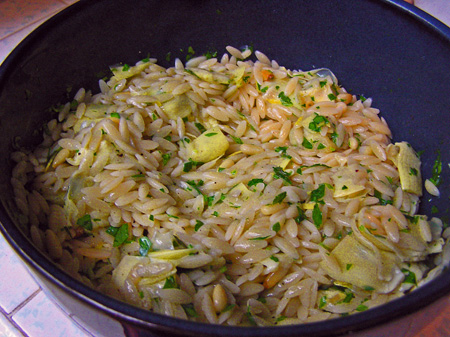 Orzo with Artichokes