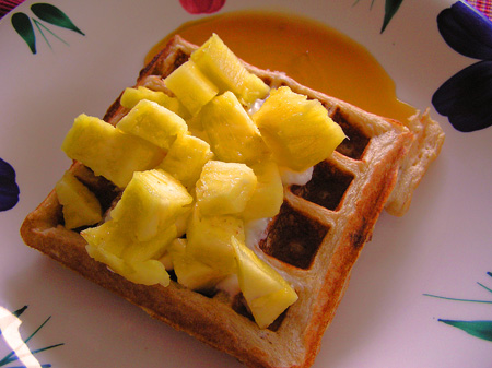 Wheat and Rice Waffle